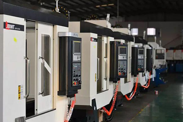 CNC tapping and drilling machine workshop